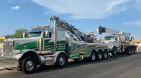 2021 twin steer Pete 389 50 Ton Rotator